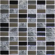 Mozaika Metallico Grey Brick Mix 30×30 cm gat.1