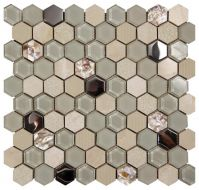 Mozaika Hexagon Beige 30×30